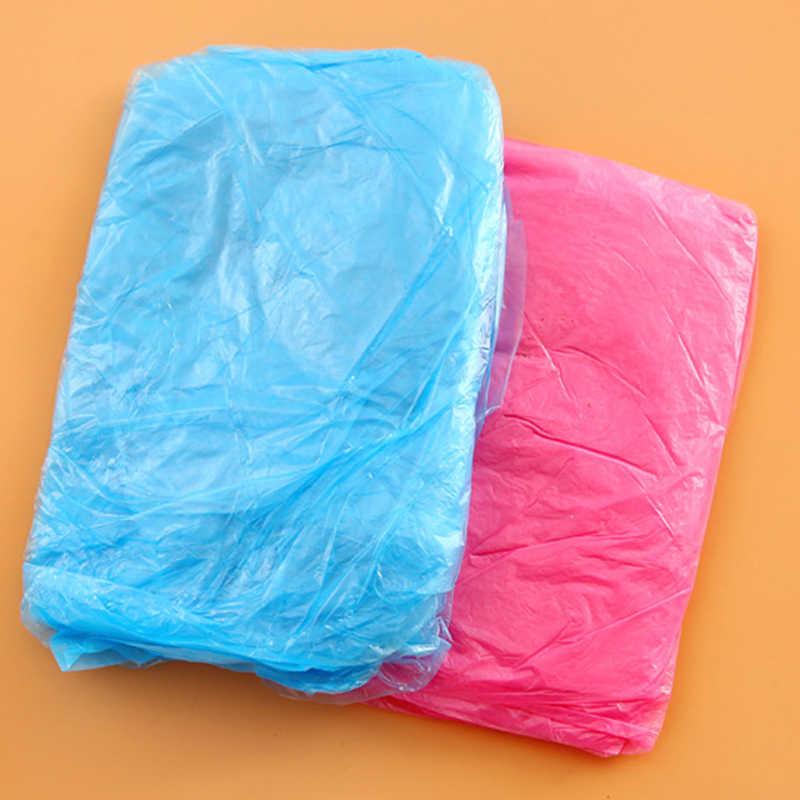 2019 распродажа одноразовый дождевик для взрослых аварийный водонепроницаемый капюшон пончо для путешествий Кемпинг должен дождевик унисекс случайный цвет 1/10 шт