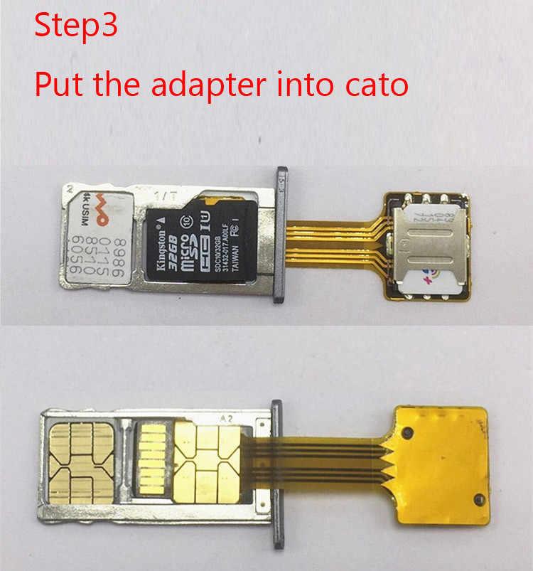 Caliente híbrido Doble tarjeta SIM Dual Micro SD adaptador extensor 2 Nano Micro Mini tarjeta SIM Adaptador para Xiaomi para Samsung Huawei