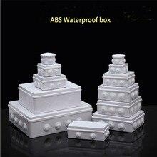 ABS пластик IP65 водонепроницаемая распределительная коробка DIY наружная электрическая Соединительная коробка кабельный филиал коробка