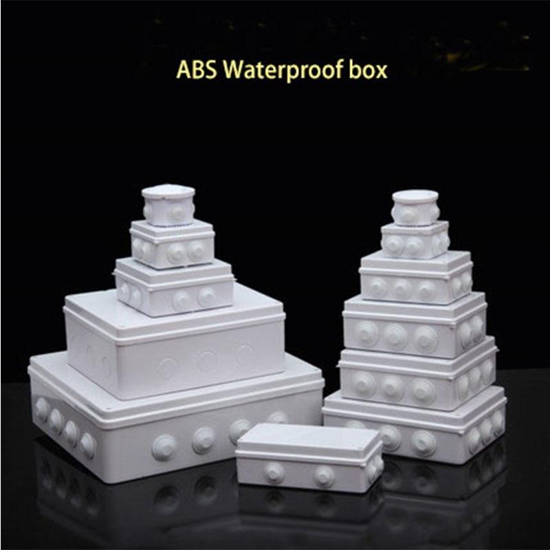 Groothandel ABS Plastic IP65 Waterdichte Junction Box DIY Outdoor Elektrische Aansluiting doos Kabel Tak doos
