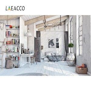 Image 3 - Laeacco cinza velho casa rural móveis decoração de casa do bebê pet retrato interior foto fundos foto pano de fundo para estúdio foto