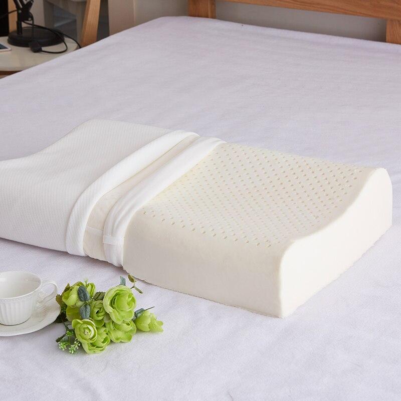 Image 2 - Thailand Import Natural Latex Cervical Vertebrae Health Care Orthopedic Massage Natural Latex Pillow Slow Rebound 30x50/40x60cmBody Pillows   -