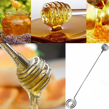 1 sztuk miód mieszadło mikser długa rączka Jar łyżka praktyczne ze stali nierdzewnej miód herbata mleczna mieszadło dostaw narzędzi kuchennych tanie i dobre opinie CN (pochodzenie) Other Ekologiczne Honey Milk Tea Stir