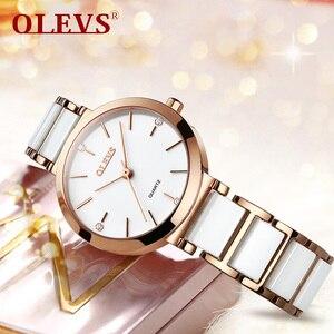 Image 4 - OLEVS Top Brand Luxury Quartz Women Watches Withe WristWatch Life Waterproof Clock Gift Watch For Womens Ladies Relogio Feminino