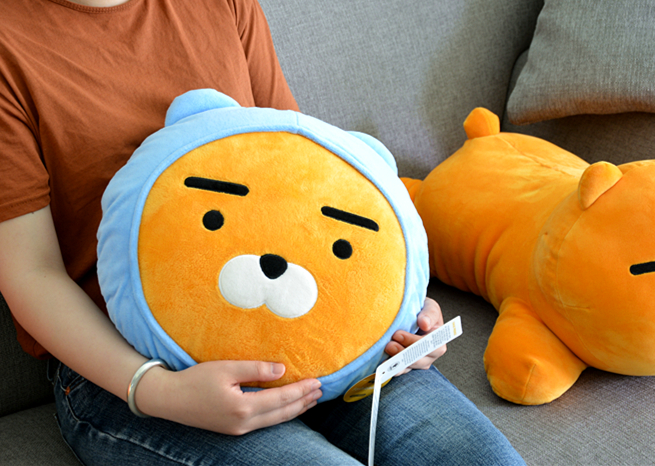 kawaii ryan apeach plush toy cryan pillow toy lovely Cartoon doll for girlfriend birthday and gift for Children present image