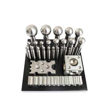 цена на dapping punches with 25pcs Jewelry Bending Shaping tool Steel Block Design Forming Block Dapping engraving block Jewelry tools