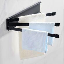 Настенный стеллаж вращающийся для полотенец вешалка держатель