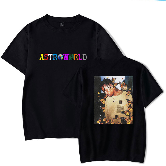 AliExpress Hot Selling America Best Seller Album astroworld Cool Front And Back Printed MEN'S T-shirt Short Sleeve image