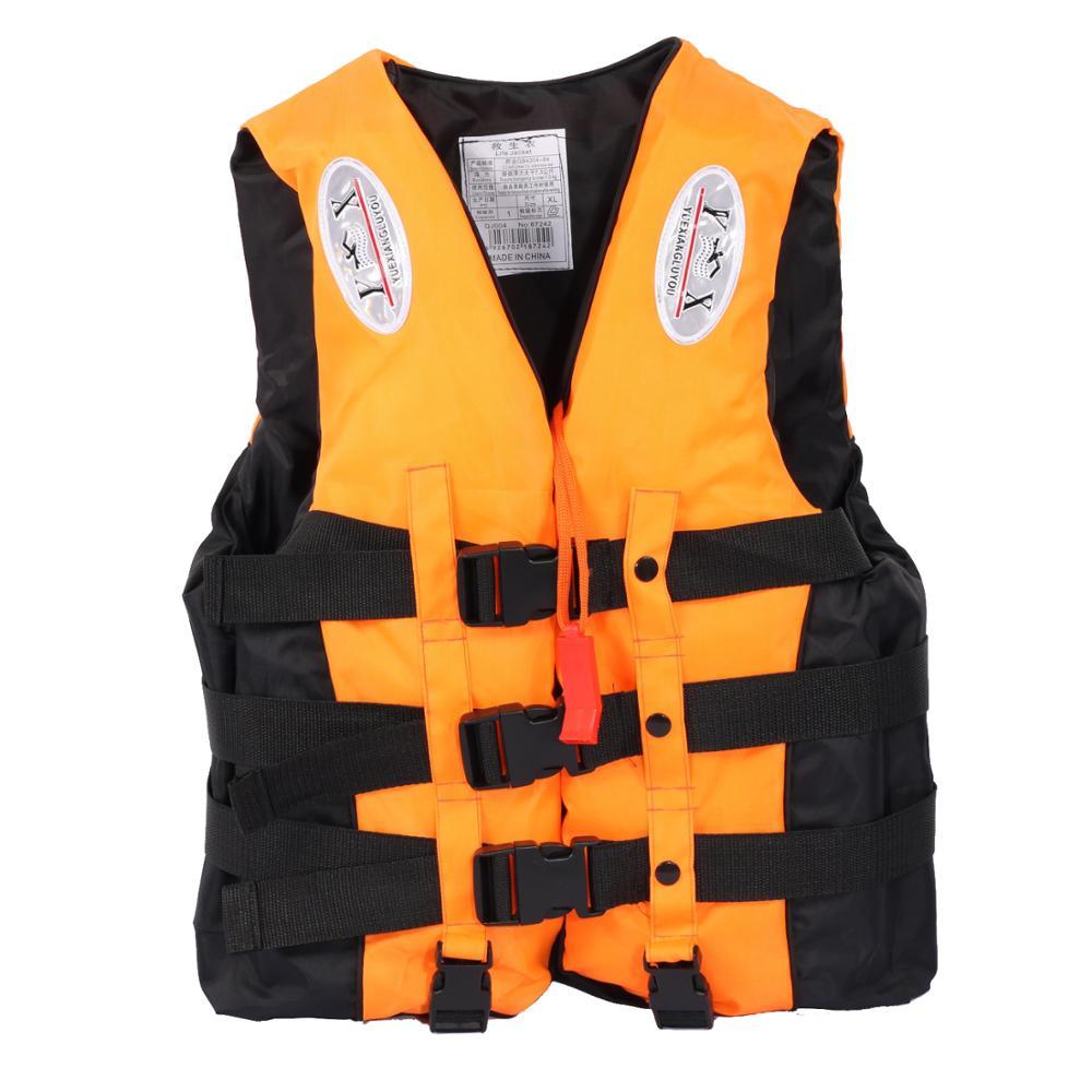 Adults Kids Children Universal Polyester Life Jacket Swimming Boating Ski Vest