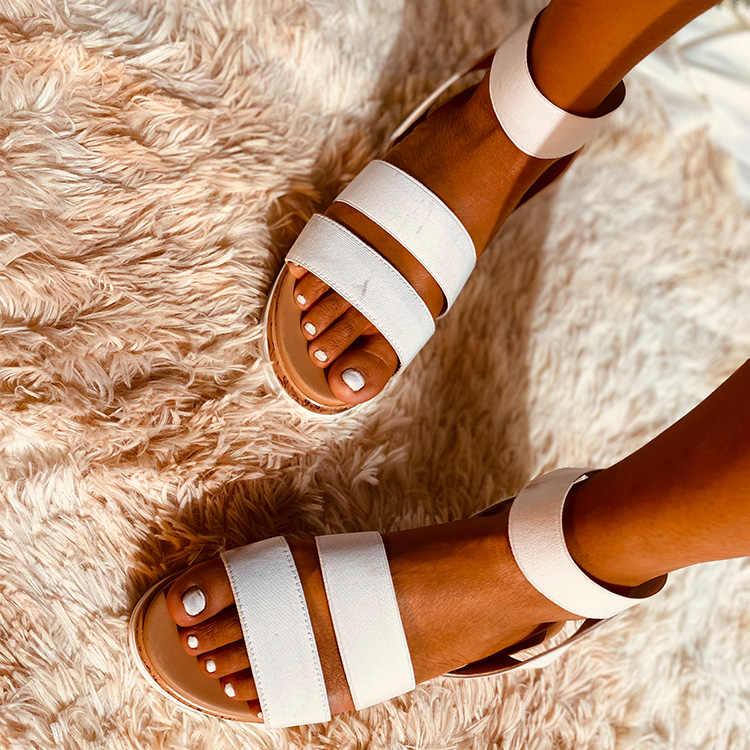 Vertvie yeni yaz kadın platform sandaletler kadınlar Peep Toe yüksek takozlar topuk ayak bileği tokaları Sandalia Espadrilles kadın ayakkabısı