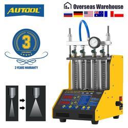 AUTOOL CT150 wtryskiwacz paliwa Tester Cleaner ultradźwiękowy dysza paliwowa benzyna Tester czyszczenie detektor 4 cylindry 110V 220V
