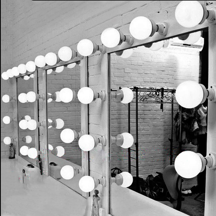 Dimmable <font><b>LED</b></font> Vanity <font><b>Mirror</b></font> Lights Kit for Makeup Dressing Table, white E27 wall light <font><b>set</b></font> with dimmer, DIY vanity <font><b>lamp</b></font> fixtures image