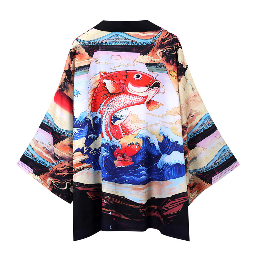 H161059607c8e41a2987ba4b68a4d9d020 Men's Windbreaker Coat Autumn Long Sleeve Lovers Fashion Retro Robe Loose National Print Creative Top Outwear Plus Size M-2XL A3