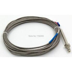 FTARB02 K Тип M6 Болтовая головка с защитой пружины, 4 м, высокотемпературный металлический экранирующий кабель, винтовой термопара, Температурн...