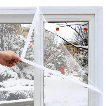 Okno folia termoizolacyjna ciepła folia zimowa samoprzylepna błona śluzowa energia ochronna przezroczysty miękki folia szklana na folia zaciemniająca okna tanie i dobre opinie CN (pochodzenie) Samoprzylepne Stained Szkło filmy Dekoracyjne Przeciwwybuchowe Izolacja cieplna Window Heat Insulation film