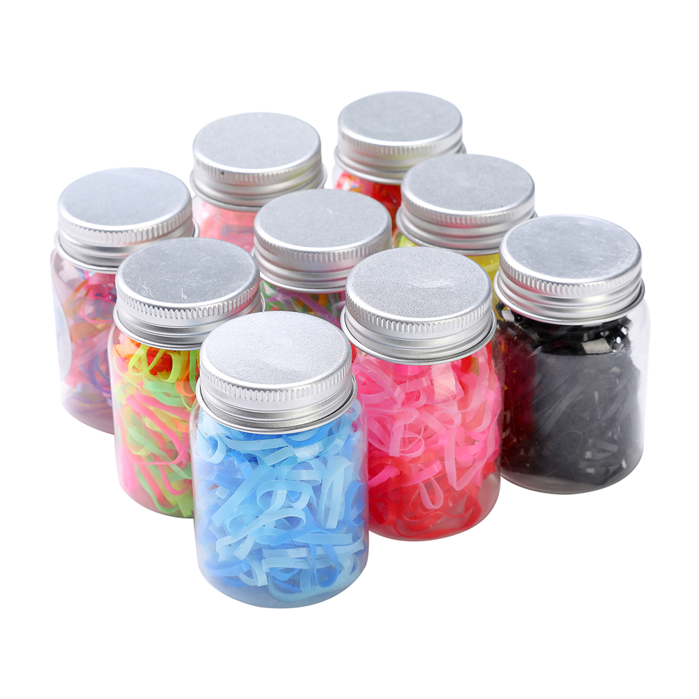 120pcs Canned Disposable Gradient Color Rubber Band Hair Rope Small Fresh Tie Elastic Hair Band Rubber Band Hair Accessories