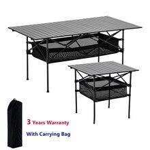 Odkryty składany stół krzesło Camping stół piknikowy ze stopu Aluminium wodoodporny trwały składany stół biurko dla