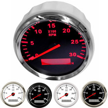 Boat Marine Car Tachometer 85mm tacometro moto with LCD Hourmeter 3000/4000/6000/8000 RPM Gauge 9~32V Red Backlight