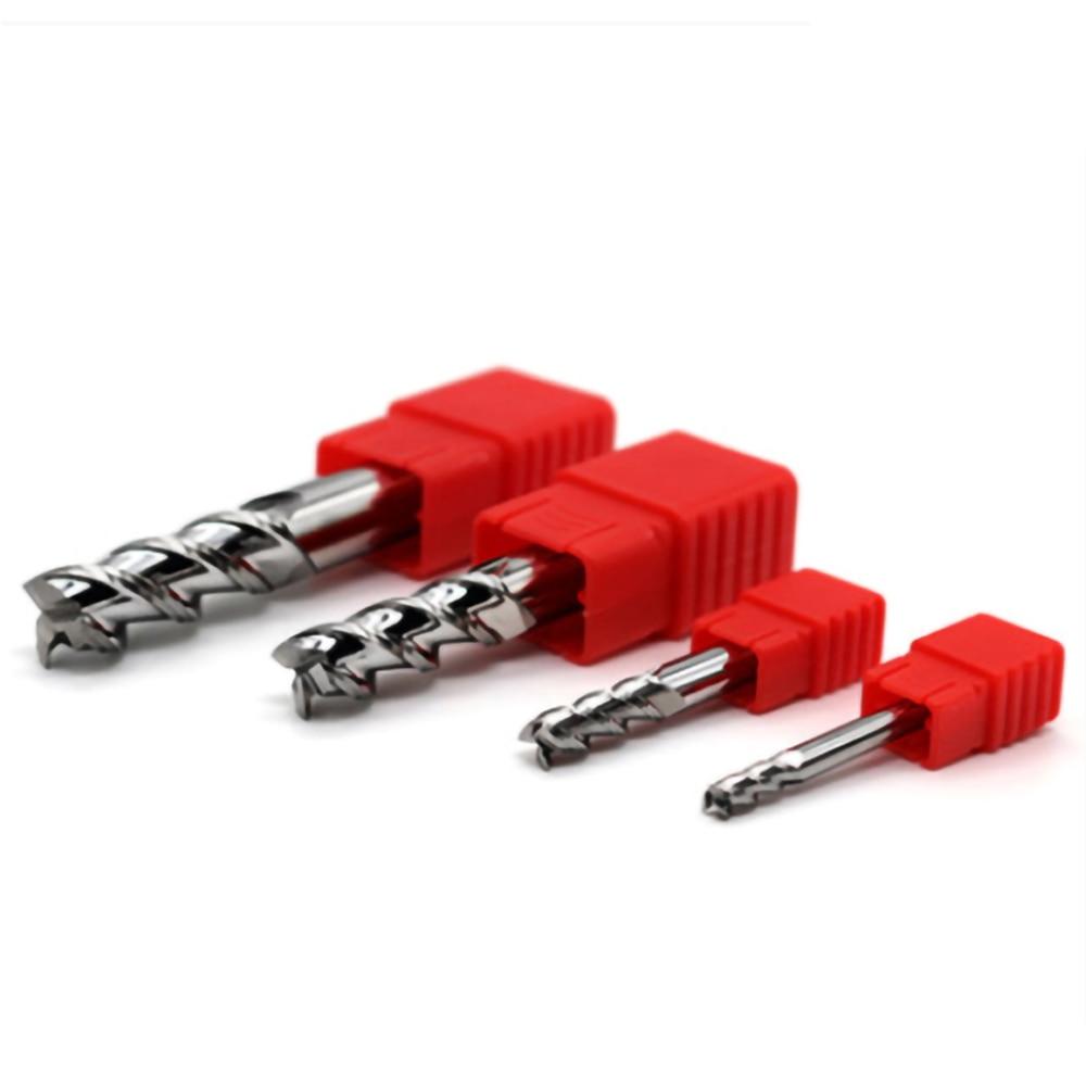 1~4mm Aluminum Copper Wood Cutter Endmill HRC55 3 Flute Cnc Milling Tools Tungsten Steel Milling Cutter End Mill 1mm 2mm 3mm 4mm