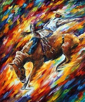 hand painted oil wall knife painting Leonid Afremov artist canvas horse painting reproductionmodern office wall décor