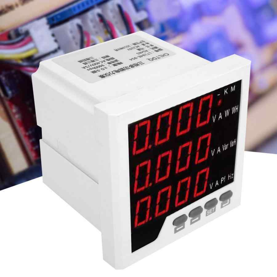 96-UIF متعددة الوظائف متر 3 المرحلة شاشة ديجيتال فولت أمبير تردد جهاز القياس التيار المتناوب الرقمي/DC80 ~ 270 فولت الفولتميتر متر