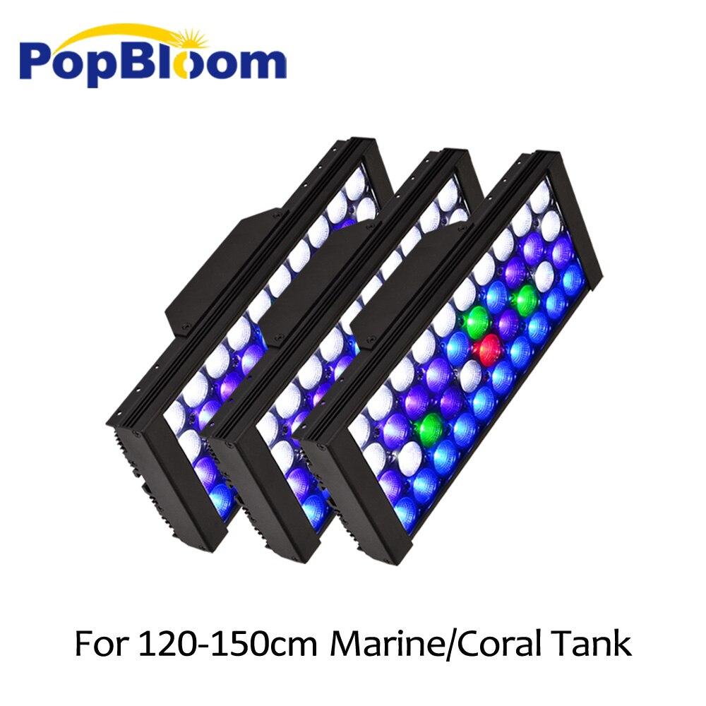 PopBloom led pour aquarium éclairage led aquarium acuario marino corail réservoir de poisson luz acuario sunsun avec smart dimmable MJ3BP3