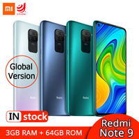 Global Version Xiaomi Redmi Note 9 3GB 64GB Smartphone MTK Helio G85 Octa Core 48MP Quad Cameras NFC 6.53 Mobile Phone 5020mAh