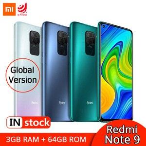 Wersja globalna Xiaomi Redmi Note 9 3GB 64GB Smartphone MTK Helio G85 Octa Core 48MP Quad aparaty NFC 6.53