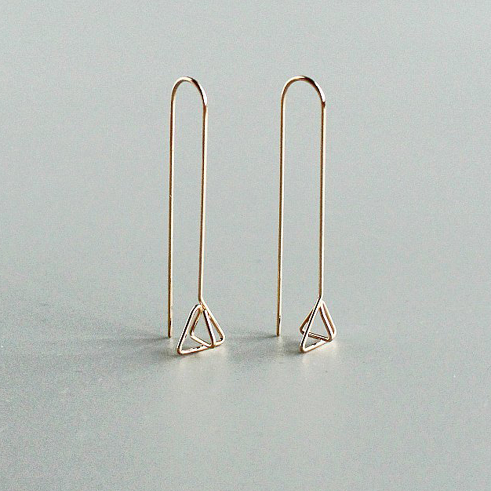 Minimalist Long Bar Earrings Handmade Jewelry 925 Silver Gold Filled Brincos Orecchini Pendientes Earrings For Women Oorbellen