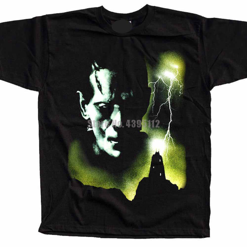 Frankenstein Movie Poster Mens Sweatshirt T-Shirts Fishinger Tshirt Fitness T-Shirt Gay Tshirts Fire Brigade Xgmcln image
