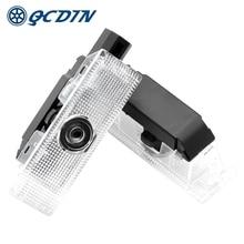 QCDIN עבור פיאט LED רכב לוגו דלת מקרן אור צל רפאים אורות דלת LED בברכה אור עבור פיאט פונטו 500X 500L