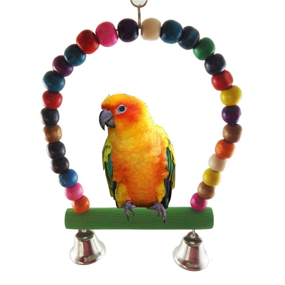 mastigando pendurado sino animal de estimação papagaio