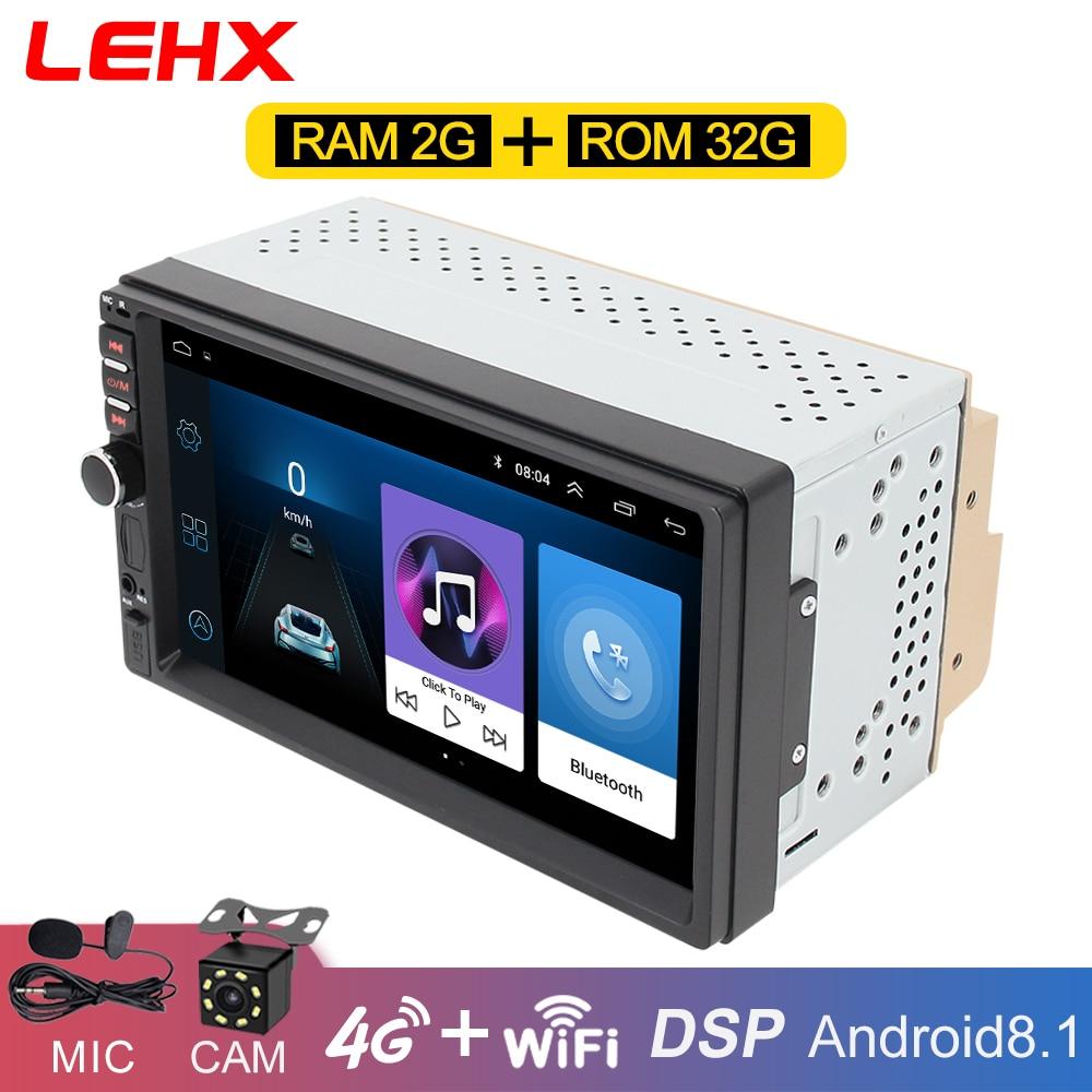 Autoradio Android8.1 lecteur vidéo multimédia 2 Din universel radio GPS Navigation pour Volkswagen Nissan Hyundai Kia toyota