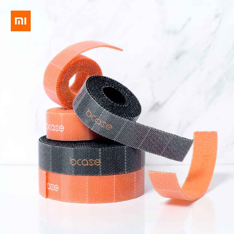 Xiaomi Youpin Bcase Tear-off Velcro Easy To Use  Easy To Store PP Hook Material Storage Wire Suitable For Office Car Study