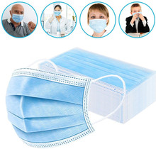 50pcs Surgical Mask Face Mask Medical Masks 3-Ply Nonwoven N95 Anti Virus Flu Hygiene Face Mouth Disposable Masks