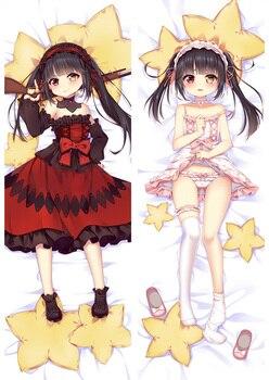 Japan Anime Date A Live Tokisaki Kurumi Dakimakura Pillow Case 150cm Cosplay Hugging Body DIY Custom Pillow Cover 8