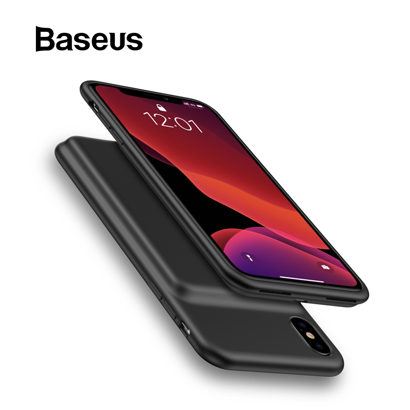 Baseus Battery Charger Case For IPhone Xs Max XR Xs Power Bank Skin-friendly Silicone For IPhone Powerbank External Battery Pack