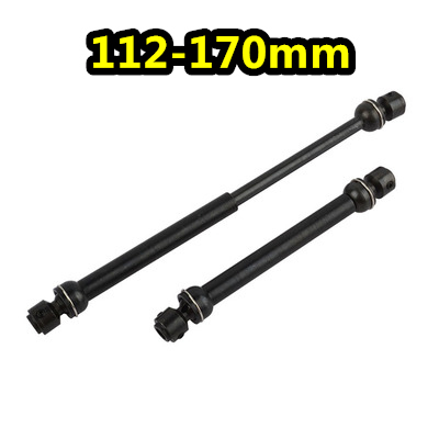 RC Steel Universal Drive Shaft 112-170mm CVD Axle Scale Crawler AXIAL TF2 Trx4 SCX10 RC DIY Parts