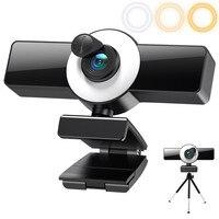 1080P 2K 4K Webcam Volle HD Web Kamera PC Computer Laptop USB Autofocu Web Cam Mit Mikrofon webcam Abdeckung Ring Licht