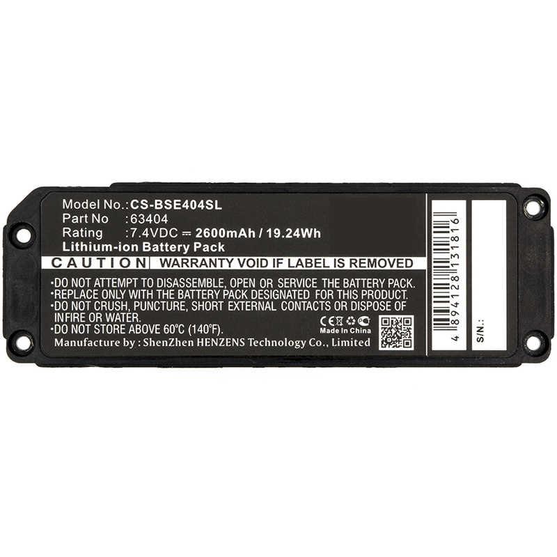 63404 Bluetooth динамик батарея CS-BSE404SL для BOSE Soundlink Мини Батареи AKKU 7,4 2600mAh аккумулятор Аки Batarya Batterij