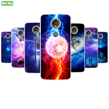 Soft Silicone Phone Case For Motorola E4 E5 G5 G5S G6 M PLUS Colorful Magic Painted pattern Play Cover