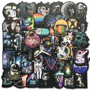 Stickers Toys Luggage Skateboard UFO Laptop Rocket Planet Alien Ship Astronaut Outer-Space