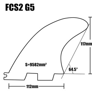 Image 4 - FCSII G5 M Size Tri fin set Surfboard Honeycomb Fins FCS 2 Fin Hot Sell FCS II Fin Quilhas