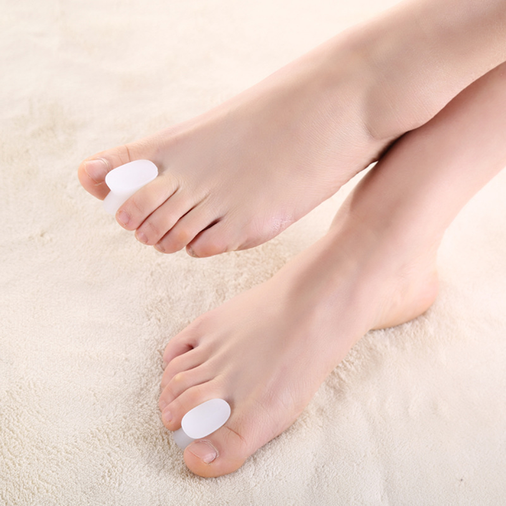 1 Pair Silicone Gel Toe Separator Spacer Straightener Relief Foot Bunion Pain Thumb Finger Big Feet Toe Pads  Foot Care Tools