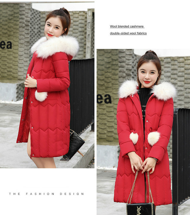 Plus size winter coat women padded cotton hooded women long jacket outwear slim white warm vintage female parka new 2019 DR1195 (24)