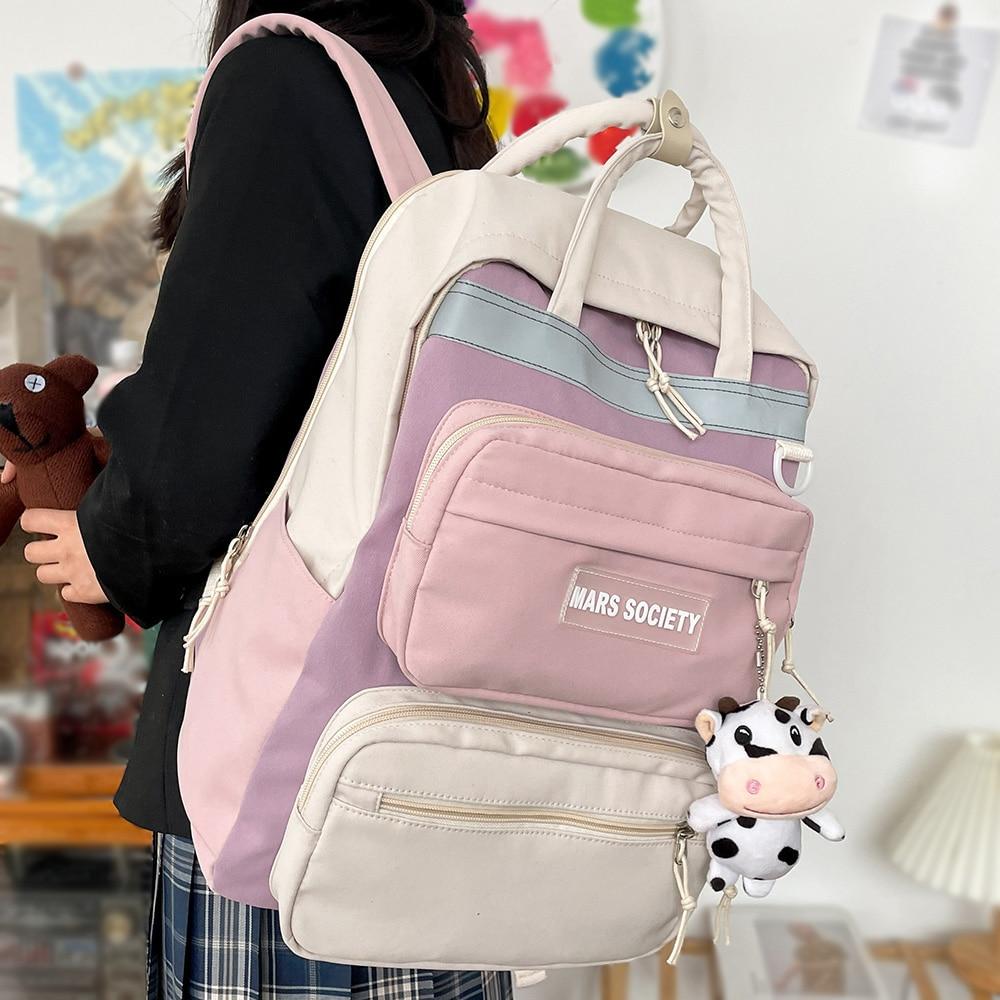 High Capacity Laptop Backpack Travel Lady Girl Book Female Bag Fashion College Student Kawaii Backpack School Women Harajuku Bag