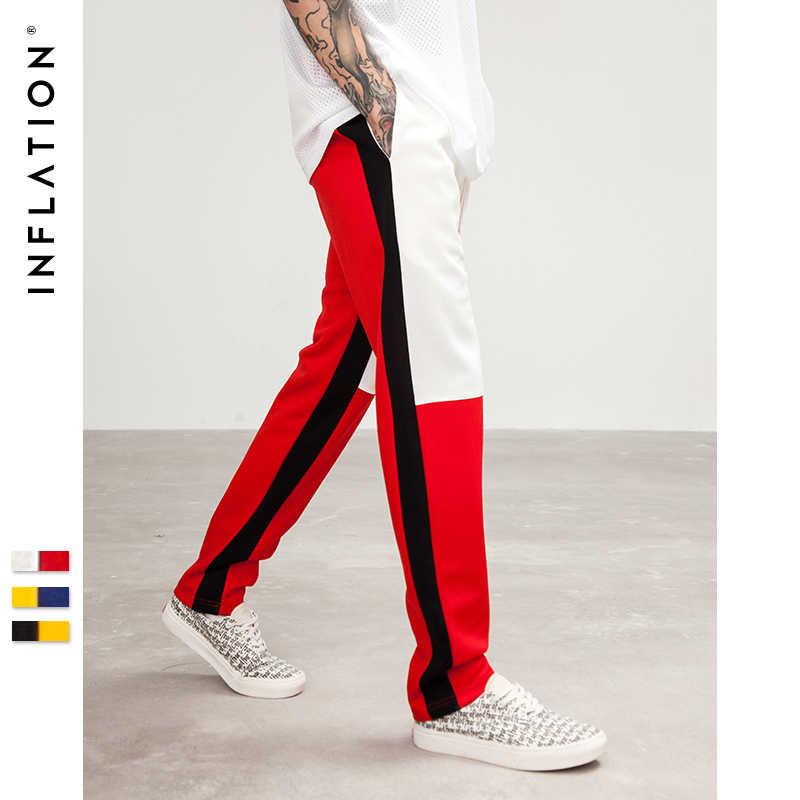 INFLATION джоггеры штаны мужские брюки мужские Мужские мужская одежда спортивные штаны с завышенной талией спортивные брюки с полосками сбоку винтажные повседневные мужские спортивные брюки  распродажа