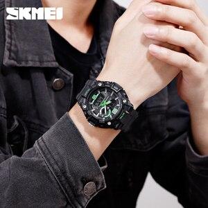 Image 5 - SKMEI Military Sports Watches Men Fashion Dual Display Digital Watch Waterproof Luminous Quartz Wristwatch montre homme 1529