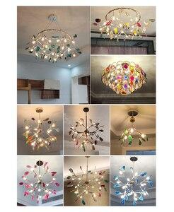 Image 5 - מודרני LED אוכל נברשת אור זהב תליית מנורת כחול נברשת בחדר ילדים מבואת מטבח סלון חדר שינה דקור מנורות