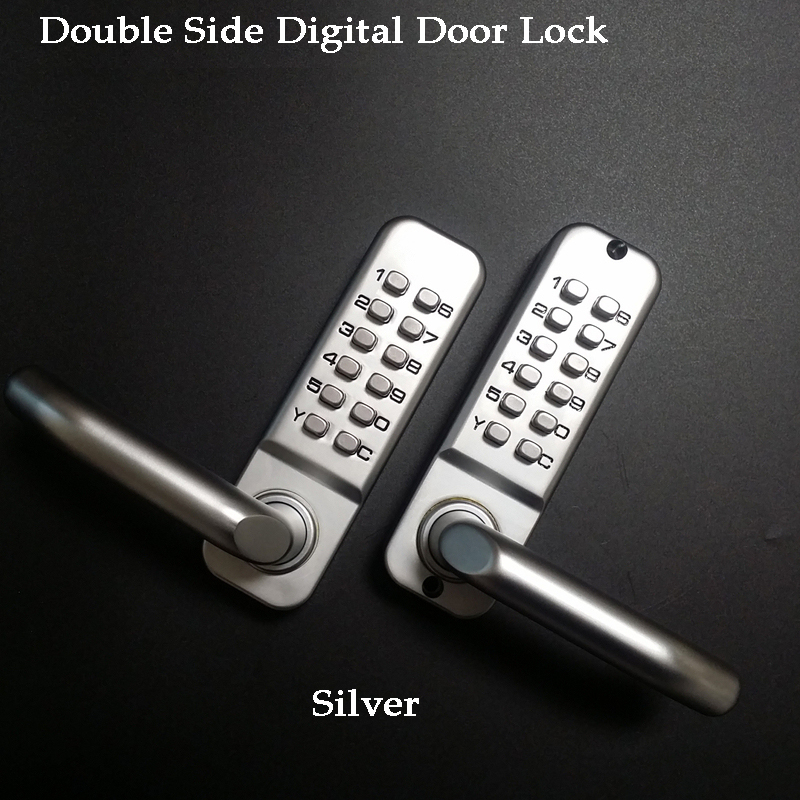 Long Handle Keyless Mechanical Digital Door Lock Keypad Password/Key/Code Home/Garden/Yard Wooden Iron Door Lock Gate Opener
